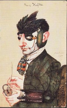 """I am a cage, in search of a bird."" Franz Kafka Illustration: Michael Mathias Prechtl"