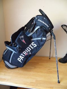 New England Patriots Nfl Team Golf Fairway Stand Club Backpack Cart Bag Carry