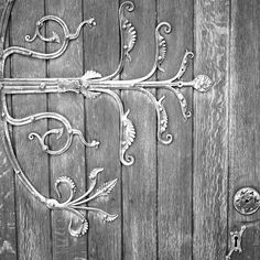 Detail of a door in Christ Church Cathedral, Dublin.