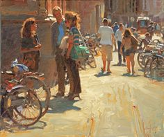 """Kim English """"A Day at the Haag"""". Oil"""