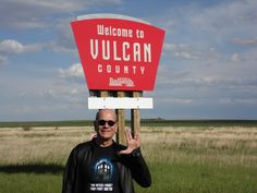 "Voyages's ""The Doctor,"" wearing a TARDIS t-shirt, in Vulcan.  (via @ RobertPicardo on twitter)"