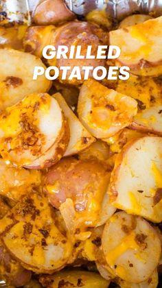 Potato Sides, Potato Side Dishes, Side Dishes Easy, Vegetable Side Dishes, Potato Man, Easy Potato Recipes, Side Dish Recipes, Veggie Recipes, Grilled Potato Recipes