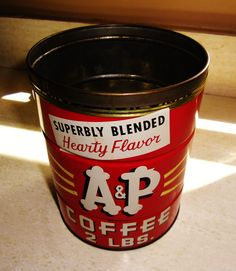 A&P Superbly Blended Hearty Flavor 2LB Coffee tin.