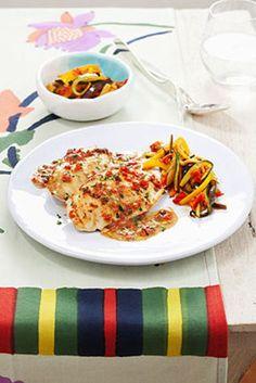 Scaloppine di pollo alla mediterranea Un classico secondo piatto, molto estivo e adatto a ogni occasione