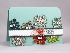 Caught a Bug card by Anni Karten - Paper Smooches - Healthy vibes