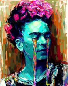 """I hope the exit is joyful and i hope never to return."" ― Frida Kahlo Frida Kahlo by ~ Natmir on deviantART"