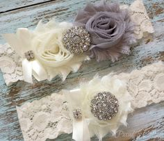 Hey, I found this really awesome Etsy listing at https://www.etsy.com/listing/182185142/grey-wedding-garter-set-garters-lace