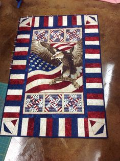 lap quilt patterns patriotic | Patriotic Lap quilt I made for a fellow Marine Mom in Iowa! Loops ...