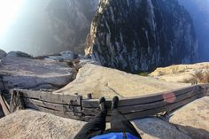 The world's most dangerous hiking trail? If you are scared of heights then maybe you shouldn't read this article... Probably The Most Extreme Article About Dangerous Things That You Will Read Today! Mount #HuaShan #hiking #gopro #mountain #climbing #vertigo #trekking #china #travel