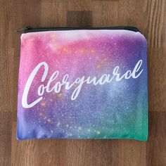 Colorguard Themed Large 8 x 10 Cosmetic Bag #hornandcastle
