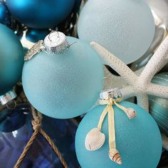 Enchanting and frothy like seafoam floating on ocean waves, these ornaments bring coastal charm to any home decor. Kim of Sand and Sisal shows how easy it is to create sea glass ornaments using just basic crafts supplies./