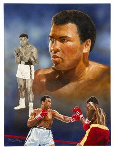 Lot Detail - Original Muhammad Ali Artwork for Legends Magazine Cover Muhammad Ali, Free Stock Photos, Dna, Magazine, Baseball Cards, The Originals, Cover, Sports, Artwork