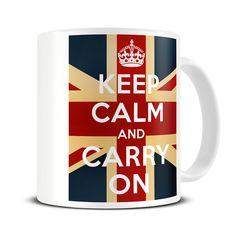 Magoo Keep Calm and Carry On Vintage Union Flag Mug – retro gifts Keep Calm Mugs, Nurse Mugs, Union Flags, Novelty Mugs, Retro Gifts, Cool Mugs, Mug Designs, Order Prints, Gifts In A Mug