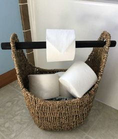 7 «Chic» Τρόποι για να Αποθηκεύσετε το Χαρτί Υγείας στο Μπάνιο σας