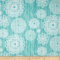 Michael Miller Brambleberry Ridge Knots & Loops Turquoise - Discount Designer Fabric -  Fabric.com