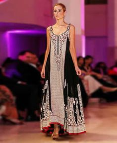Umar Sayeed Silhouette Pishwas Collection 2014 Leicester Evening Party Dresses IBFJW