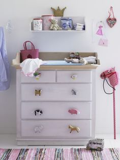 nursery storage - cute handles