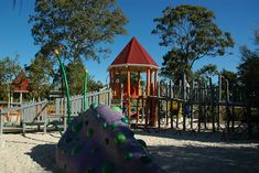 Hidden World Playground (Fitzgibbon, past chermside) Brisbane Kids, Playground, Gazebo, Outdoor Structures, Park, House Styles, World, Boys, Color