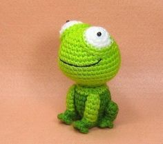 Girl in a Frog Suit and Her Pet Frog - Amigurumi PDF Pattern - Crochet. $4.50, via Etsy.