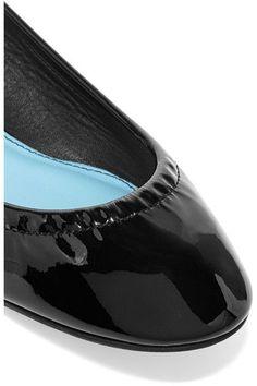 Lanvin - Patent-leather Ballet Flats - Black - IT41.5