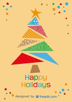 Bonnes fêtes l'arbre de Noël coloré