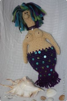 Mermaid Amigurumi - Free Russian Pattern