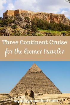 This cruise travels to three continents on a itinerary that boomer travelers will love. Packing List For Cruise, Cruise Travel, Cruise Vacation, Cruise Tips, Cruise Excursions, Cruise Destinations, Affordable Cruises, Cruise Reviews, Pyramids Of Giza