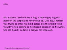 Sherlock Head Canon he wouldn't do that to her