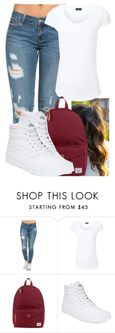 """""""DAMN DANIELLE (female version of DAMN DANIEL)"""" by marvelfaith ❤ liked on Polyvore featuring Joseph, Herschel Supply Co. and Vans"""