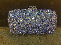 Solid Color Rhinestone Sparkly Handbag Luxury Purse Banquet Wedding Clutch-3