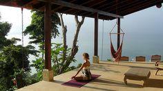 A trully perfect spot for Yoga! Pura Vida, everyone!  #yoga #health #environment #design #CostaRica #vacation
