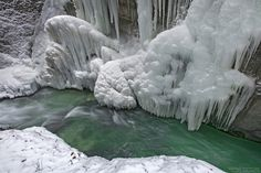 "Ice at Partnach gorge. Follow me on <a href=""http://www.facebook.com/norlies1"">facebook</a>"
