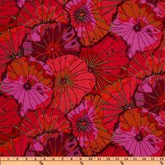 Kaffe Fassett Lotus Leaf Wine fabric