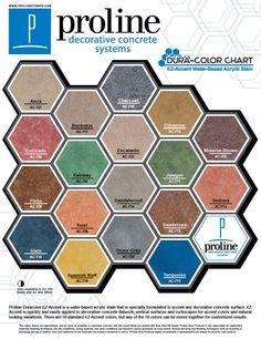 Smith Paint Products Water Based Concrete Stains Color Chart Shows Coloring O