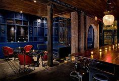 New York design studio AvroKO Hospitality Group AHG has designed a lounge bar for the famous Saxon + Parole Restaurant. in News Design. New York City Bars, New York Bar, Best Bars In Nyc, Geneva New York, Happy Hour, Bar Design, Design Ideas, 2020 Design, Design Trends