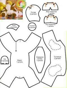 Pierrot e Colombina Molde de Feltro Baixar moldes de feltro para confecção de bonecos Plushie Patterns, Animal Sewing Patterns, Craft Patterns, Sewing Patterns Free, Doll Patterns, Sewing Toys, Sewing Crafts, Sewing Projects, Sewing Stuffed Animals