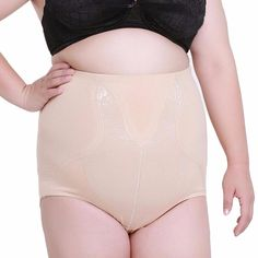 3daa71597a1a0 High Waist Plus Big Size Women s Tummy Control Panties Briefs Slimming  stretching underwear Shorts Belly Slim