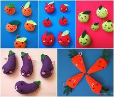 felt fruits and vegetables cute fruits cute vegetables pin