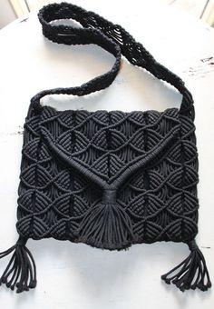 Macramé cross body messenger bag