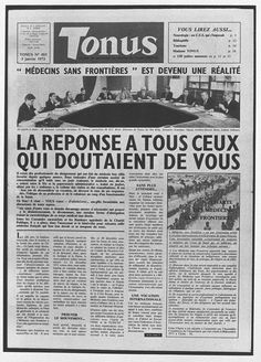 1971: Founding of MSF - Médecins Sans Frontières is founded by a group of French doctors and journalists on 21st December, in the wake of the war and accompanying famine in Biafra, Nigeria, and the floods in eastern Pakistan (now Bangladesh).