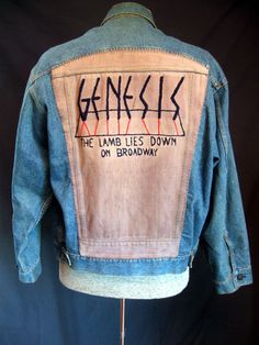 Vintage RARE Jean Jacket GENESIS  The Lamb by LilBlackDressVintage, $85.00