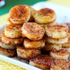 "Healthy Cinnamon ""Fried"" Bananas ~ Recipe of today"