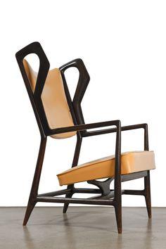 Gio Ponti, 'Triennale Armchair,' Galleria O. Unique Furniture, Vintage Furniture, Furniture Design, Inexpensive Furniture, Plywood Furniture, Muebles Art Deco, Design Industrial, Gio Ponti, Cool Chairs