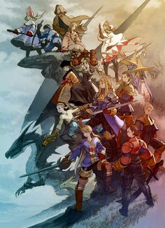Final Fantasy Tactics - PSP remake of the original great. All Final Fantasy games were good until which was not good, and 13 which made 12 look like a masterpiece Final Fantasy Series, Arte Final Fantasy, Final Fantasy Tactics, Fantasy Art, Video Game Posters, Video Game Art, Video Games, Game Character, Character Design
