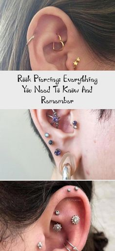 Rook Piercing: Everything You Need To Know And Remember - Body Art Tattoo Types Of Ear Piercings, Body Piercings, Circle Earrings, Gold Earrings, Heart Jewelry, Fine Jewelry, Rook Piercing, Sell Gold, Gold Dots