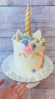 10th Birthday Cakes For Girls, 12th Birthday Cake, Colorful Birthday Cake, Themed Birthday Cakes, Princess Birthday Cakes, Unicorn Birthday Cakes, Unicorn Cakes, Theme Cakes, Cake Decorating Frosting
