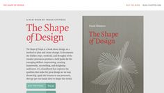 The Shape of Design - Web design inspiration from siteInspire