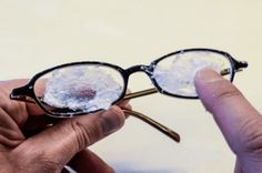 The real and ugly truth is that most people think that buying scratch-resistant eye glasses means never having to deal with scratched lenses! Well, they're wrong! That's right, with improper care, all lenses will scratch Deep Cleaning Tips, House Cleaning Tips, Diy Cleaning Products, Cleaning Hacks, Cleaning Solutions, Scratched Glasses, Cleaning Painted Walls, Glass Cooktop, Clean Dishwasher