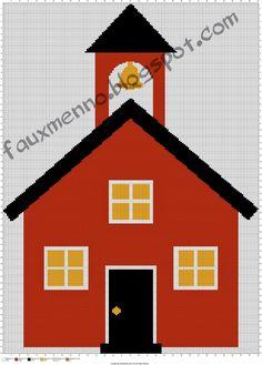 School House FREE crochet throw blanket pattern| The Faux Menno: Back to School Crochet #graphghan