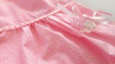 Robe bébé en coton blanc et rose avec bloomer assorti : Mode Bébé par my-arabesque
